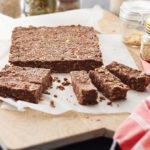 Create peanut energy snack bars using nut butter
