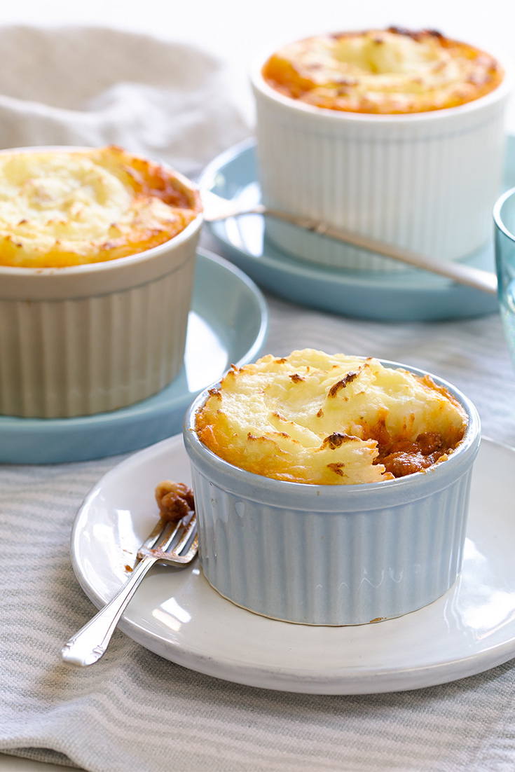 Create these delicious mini shepherd's pies for dinner