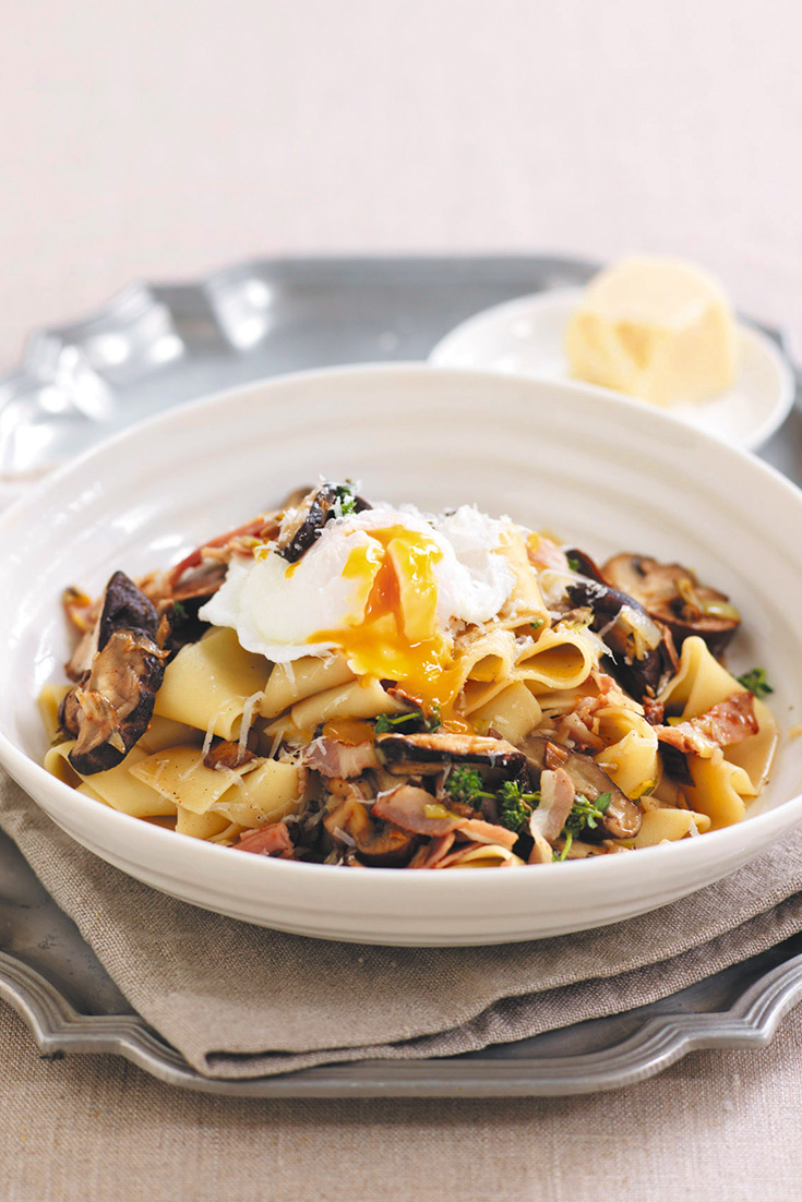 Get cooking with leeks using this sensational recipe for mushroom and leek pappardelle