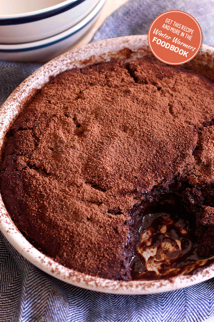 The Winter Warmers Foodbook has great dessert ideas like this recipe for chocolate pudding