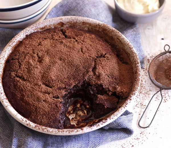 This self saucing pudding is just one of the great comfort dessert ideas from the Winter Warmers Foodbook