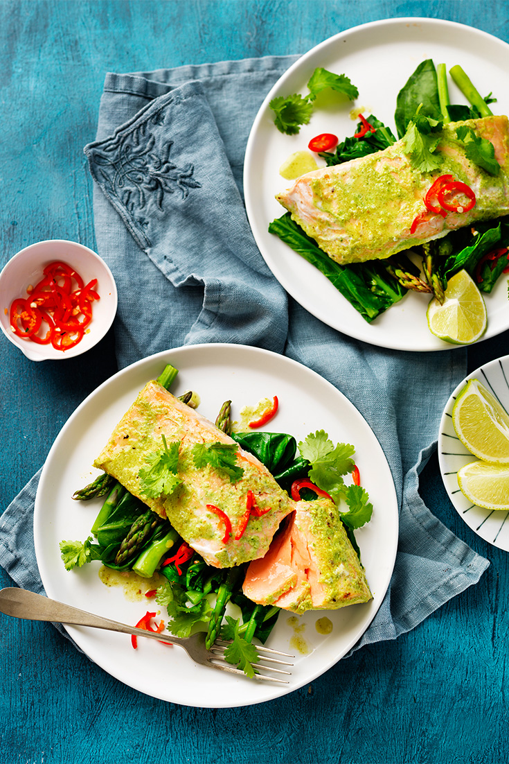 Make Asian-style salmon with this simple chilli coconut marinade recipe using the Breville Boss to Go