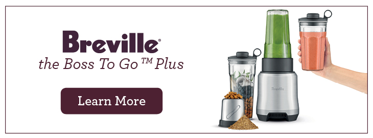 Learn more about the Breville Boss to Go Personal Blender, it can create incredible smoothies and marinades within seconds