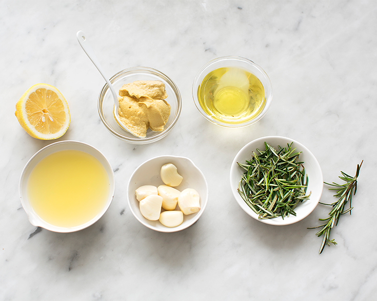 Make an easy lemon, garlic and rosemary marinade in the Breville Boss to Go Blender