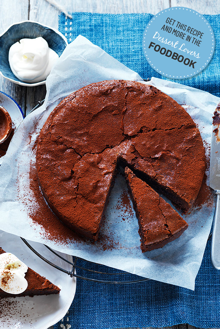 Make this best ever chocolate cake from the Dessert Lovers Foodbook as a great cake recipe for dinner parties