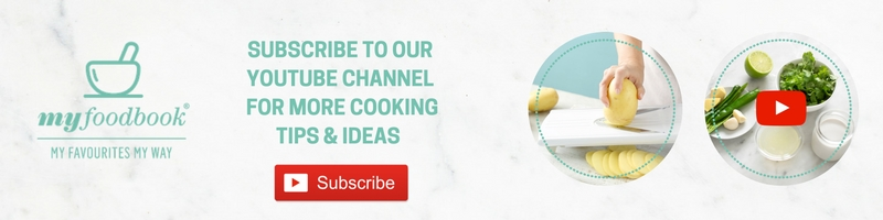 Subscribe to the myfoodbook YouTube channel to see great cooking tips & food ideas