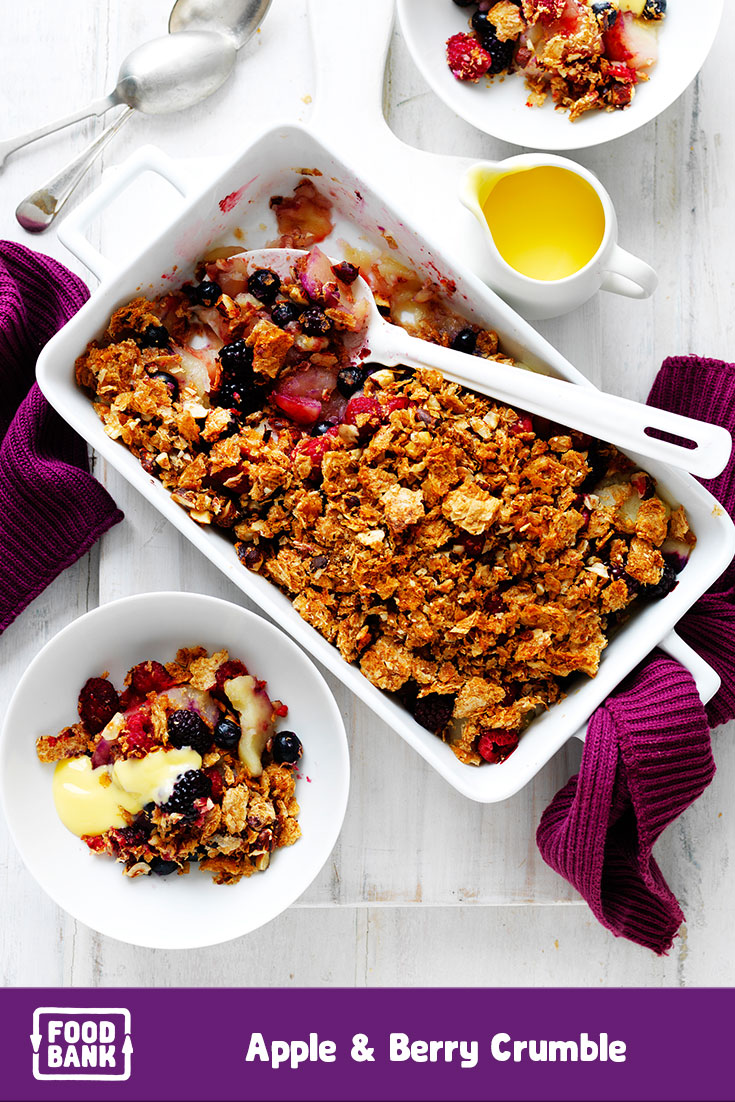 Foodbank meal planner dinner and dessert recipes make this easy apple crumble dessert recipe with foodbank productsin august to support the food fight forumfinder Choice Image