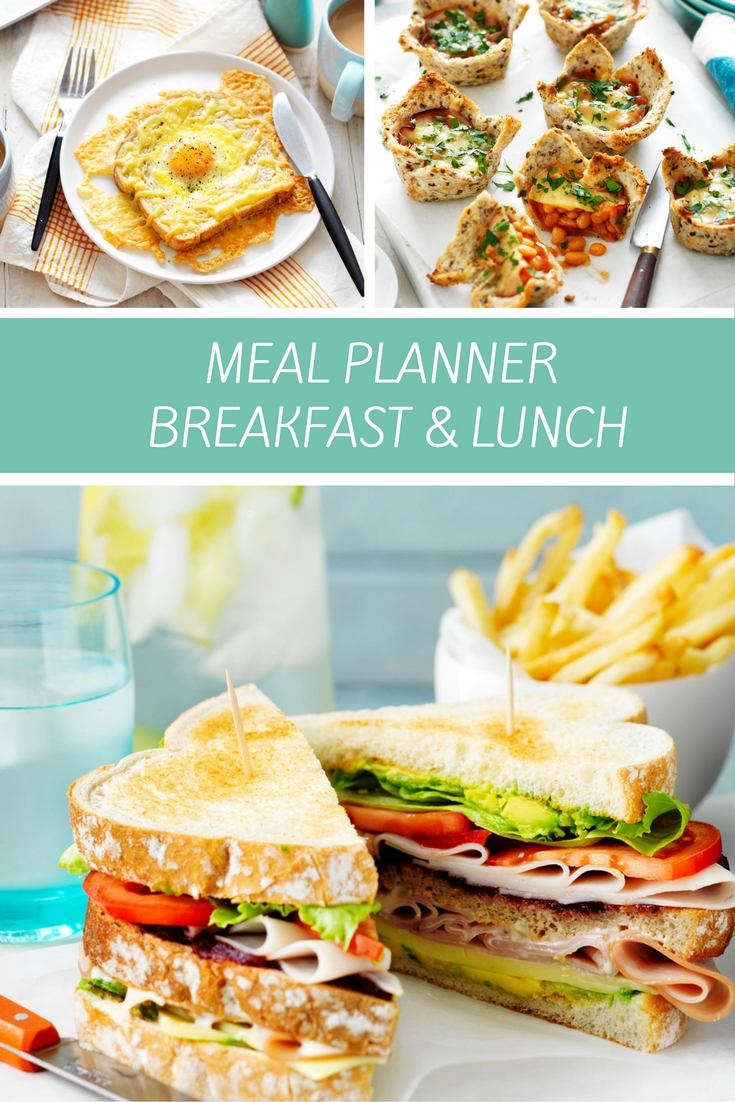 This weekly meal plan has all the ideas you need for fuss free breakfasts and easy lunches