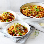 Make this mushroom bolognese recipe for a hearty family favourite