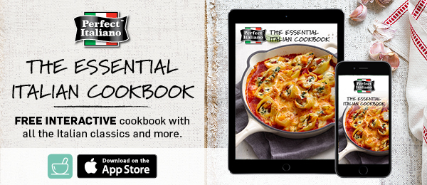 Get the Perfect Italiano Italian Cookbook to start creating pasta bakes, pizza recipes and more