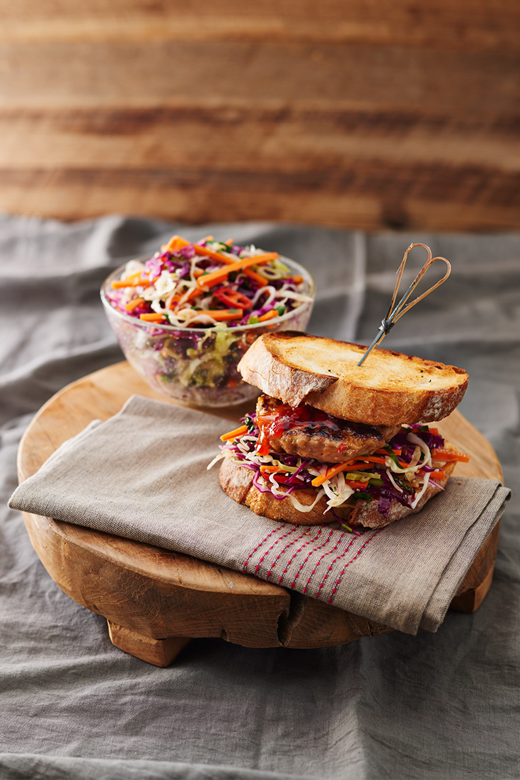 Make this peanut butter pork burger as a yummy Father's Day recipe for dad