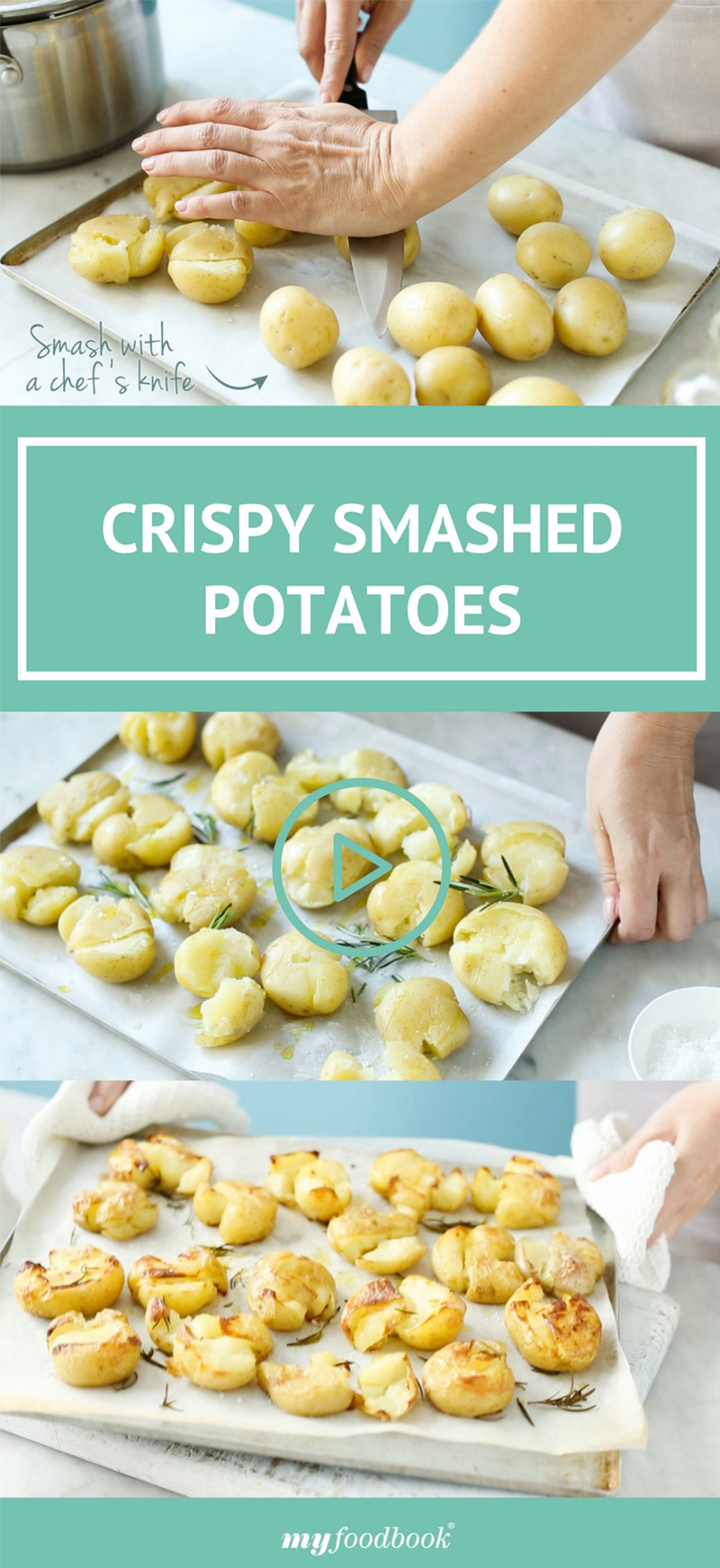 Crispy Smashed Potatoes Recipe — Dishmaps