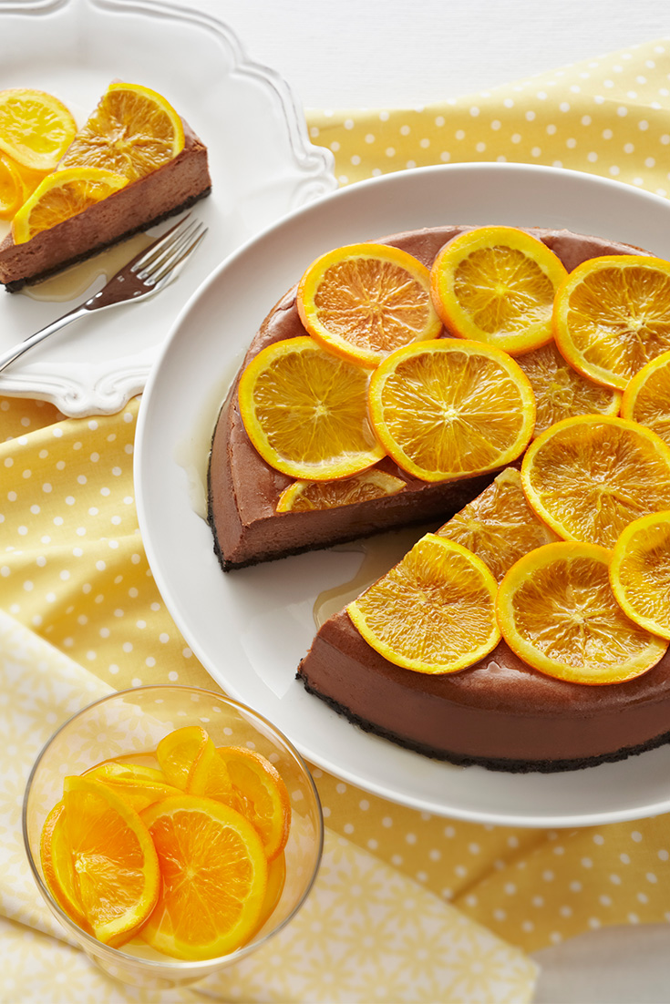 Start using oranges in cooking with this divine chocolate cheesecake recipe