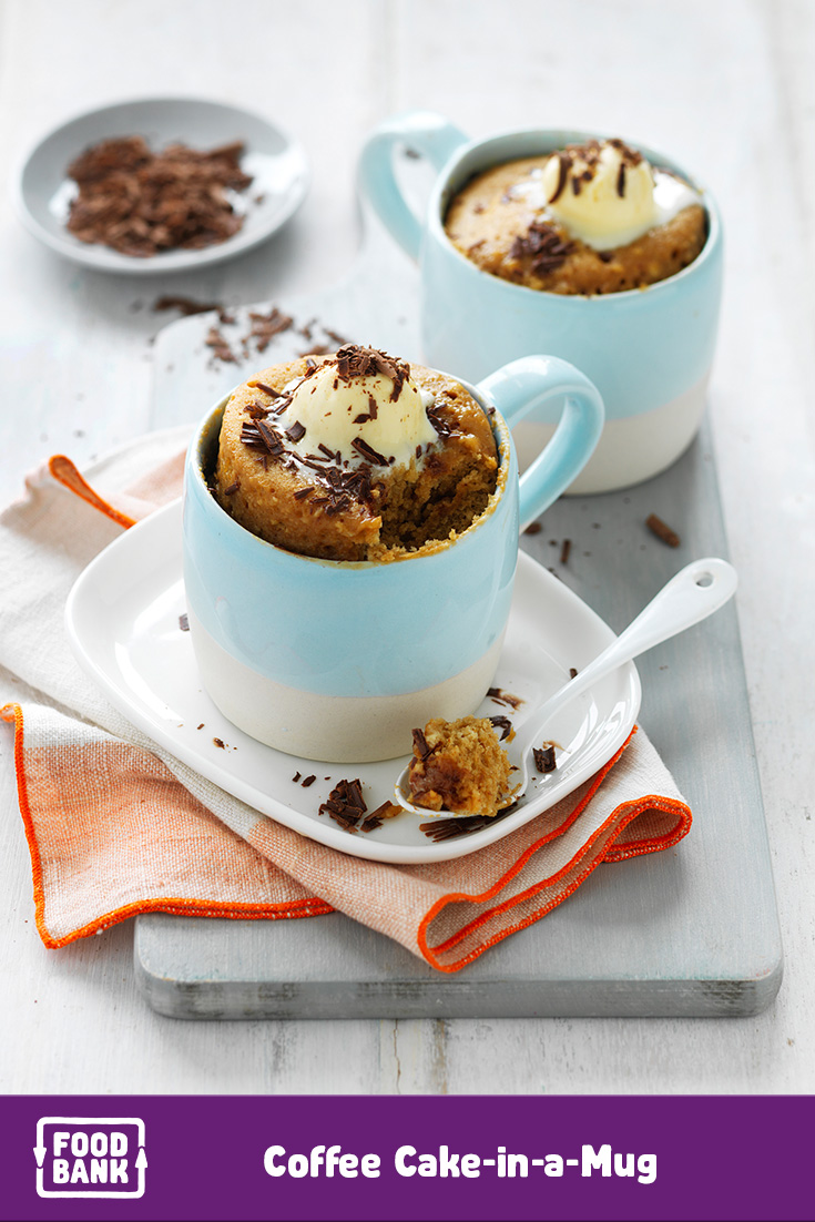 Get more dinner and dessert recipes like this coffee mug cake in the Foodbank meal planner