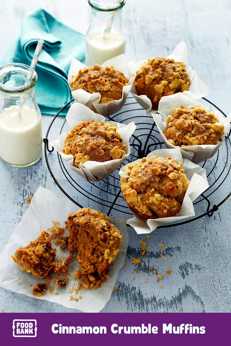 This cinnamon crumble muffin recipe is a great idea for your weekly meal plan.