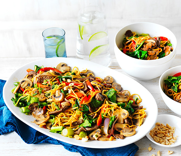 Make this stir-fry recipe with mushrooms and beef for a delicious, healthy dinner