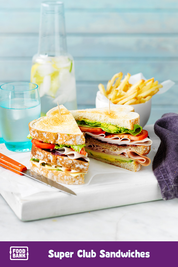 This super club sandwich recipe idea is just one of the great lunch recipes on our weekly meal planner.