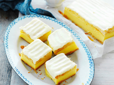 Make vanilla custard slice for dad this Father's Day for a trip down memory lane