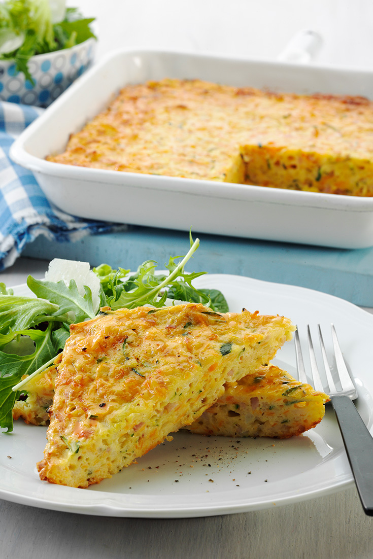 Frittata recipes like this Filling Family Frittata are great as a lunch idea or family dinner