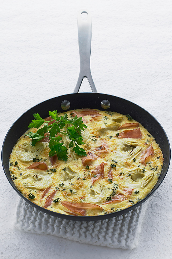 Make this ham artichoke Frittata as an easy lunch recipe idea