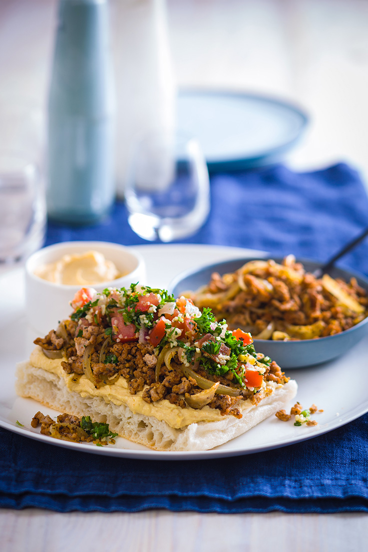 Try this turkey mince open pide recipe as a high-protein dinner idea