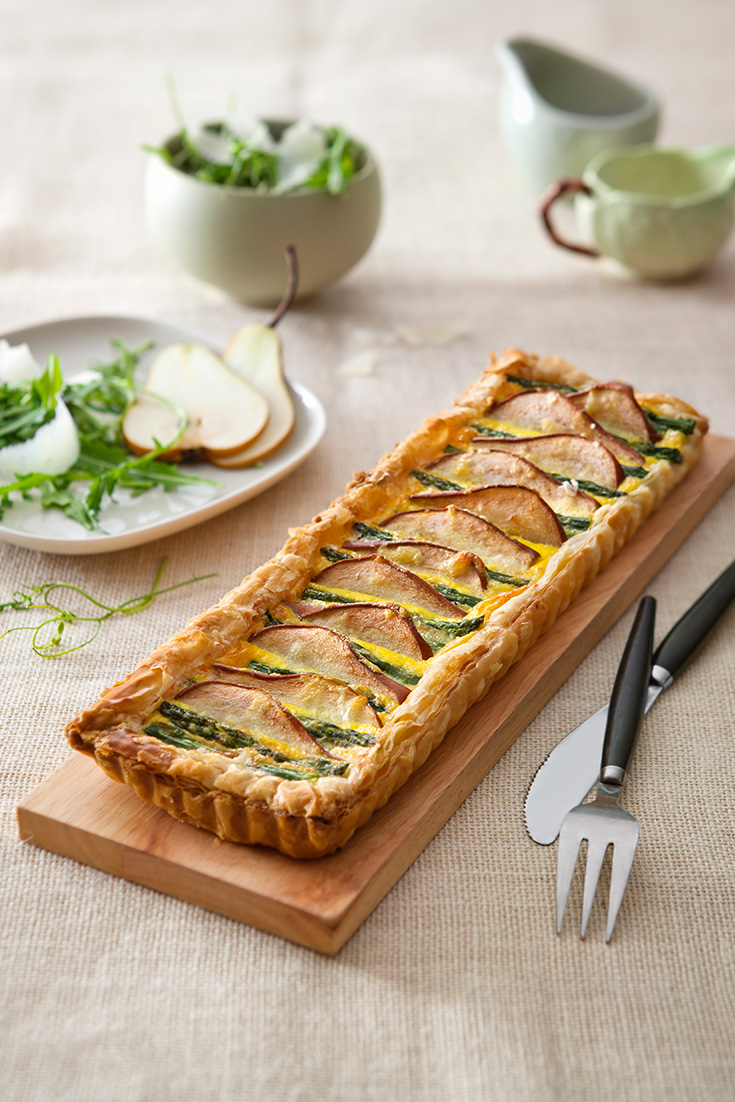 Make this delightful pear and asparagus tart recipe when you have friends coming over for brunch