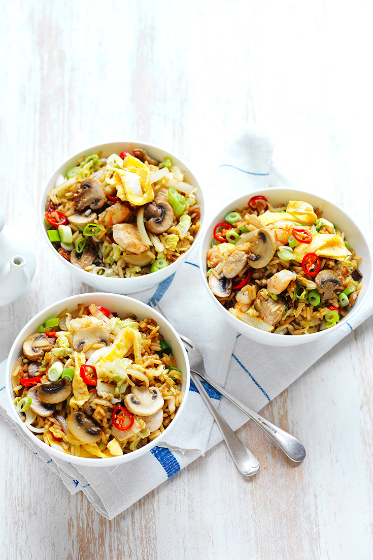 Make this Mushroom Fried Rice as a family friendly dinner idea