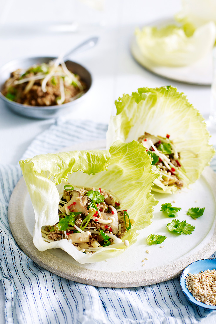 Make this Asian inspired recipe for Turkey San Choy Bau