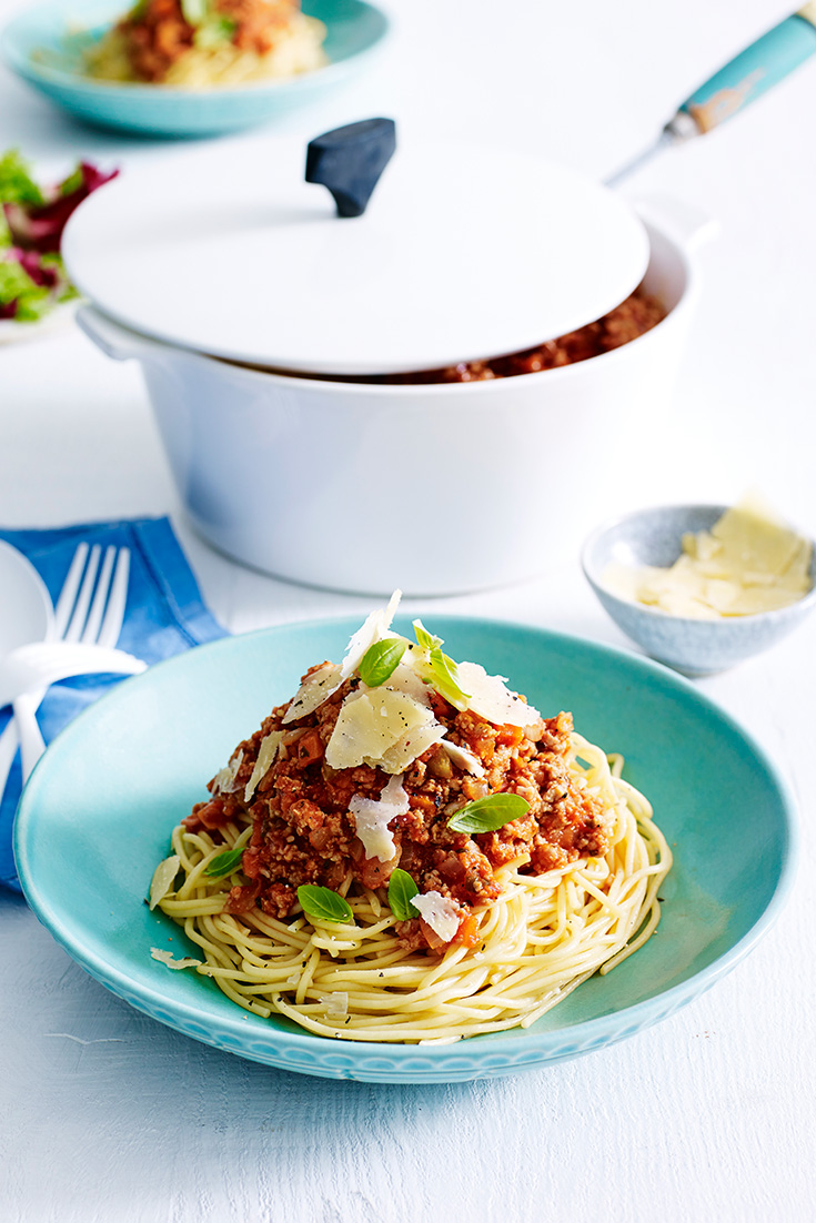 Create a twist on traditional spaghetti bolognese with this recipe for Turkey Bolognese