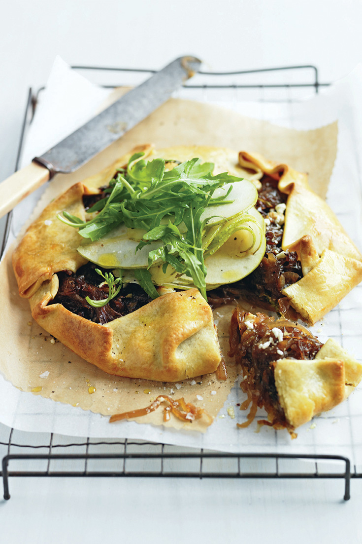 This Caramelised Onion and Pear Tart is the perfect entertaining idea
