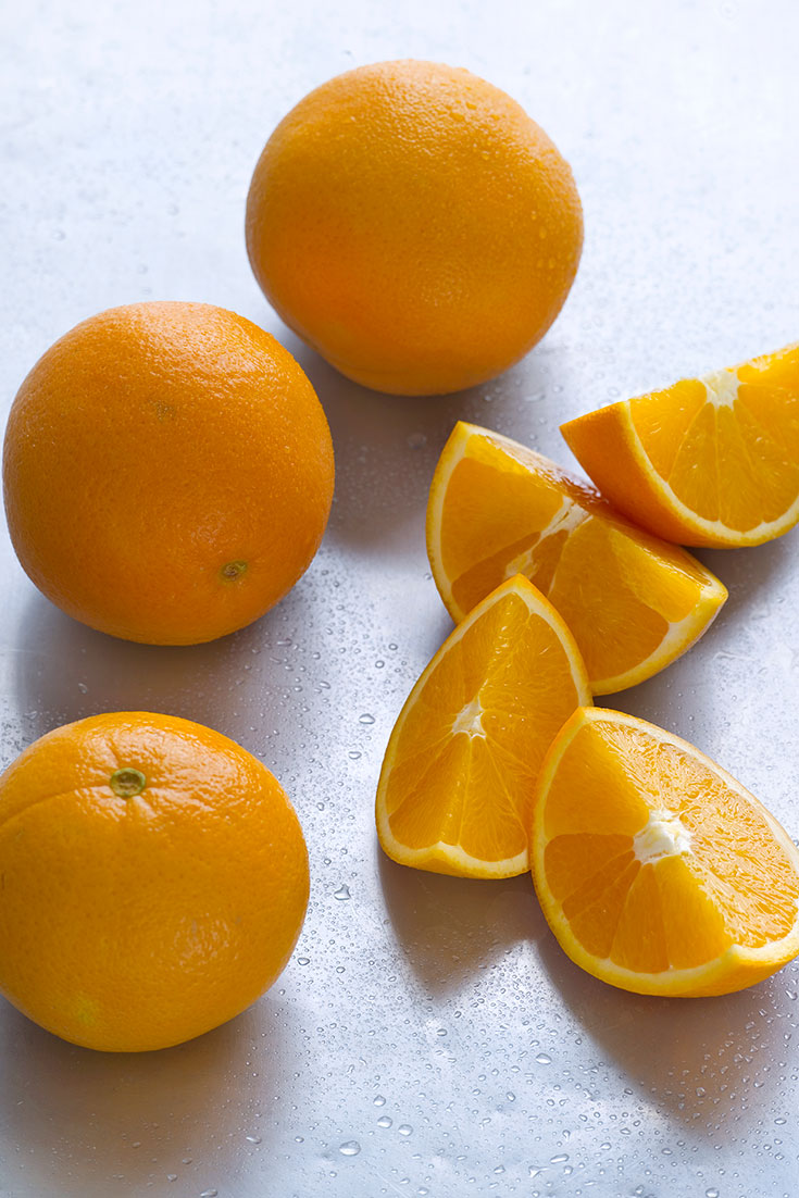 Fresh seasonal oranges a great citrus to use in spring cooking