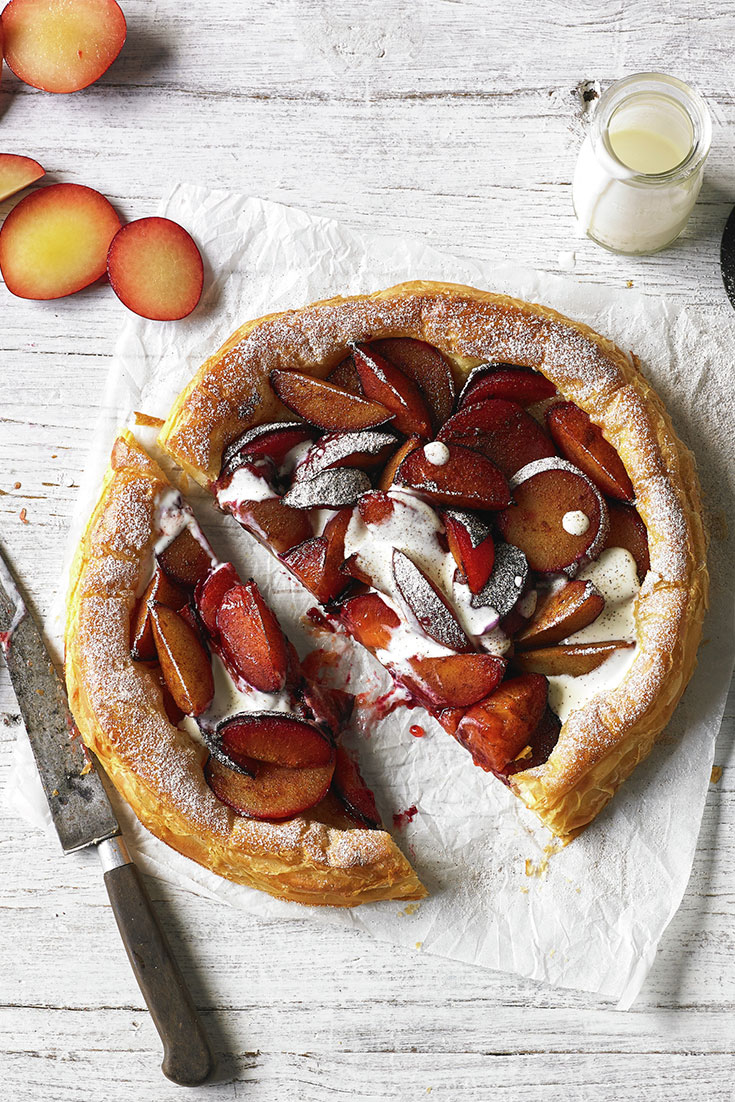 This delicious plum tart recipe is the perfect idea for in season spring cooking