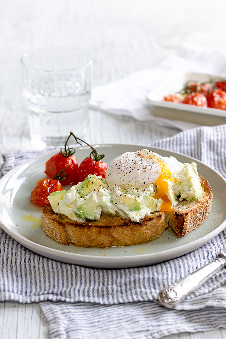 Avocado and Ricotta Smash on Crusty Sourdough - Perfect Italiano