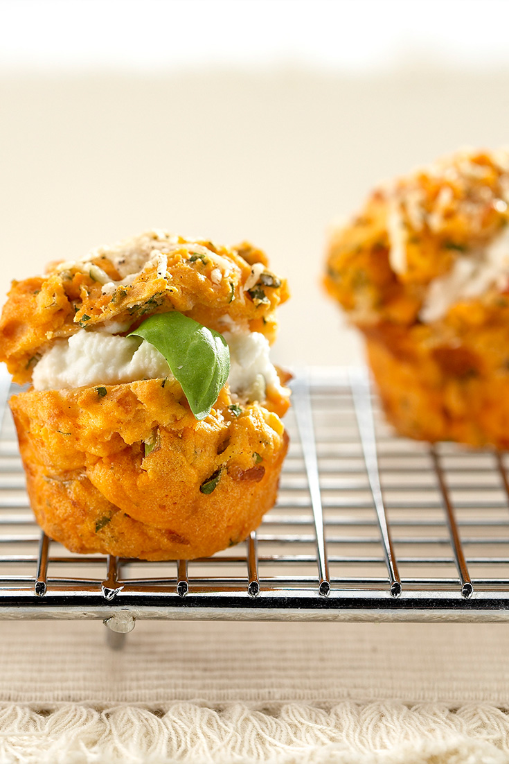 This mini tomato muffins make a delicious canapé or snack idea
