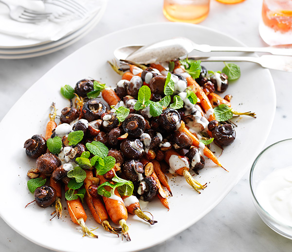 Try this Maple Roasted Carrot Salad as a side dish this entertaining season