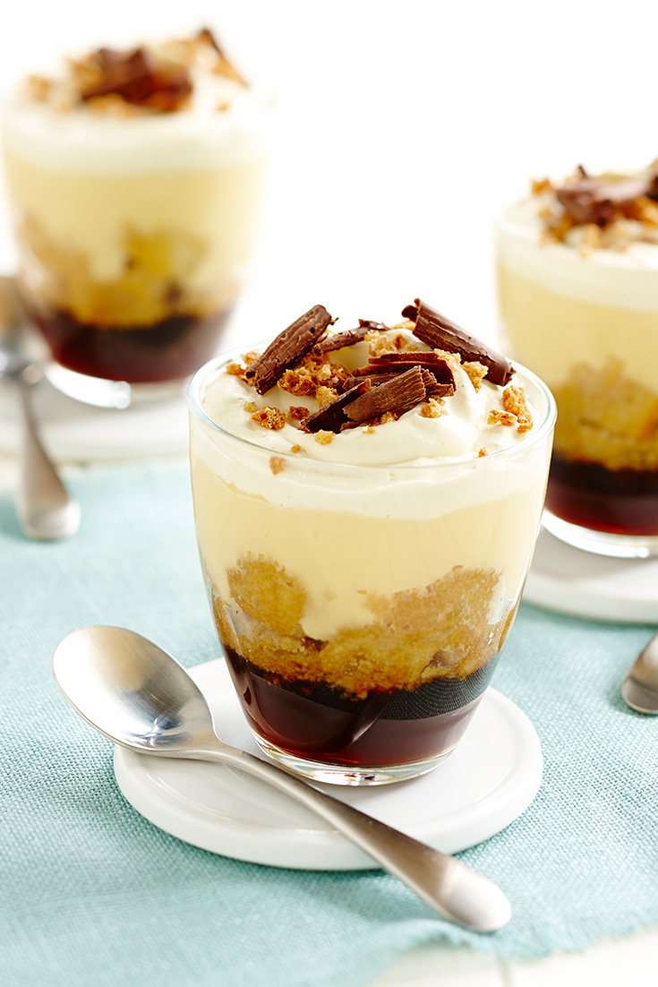 Individual Espresso Trifles, the perfect recipe for lovers