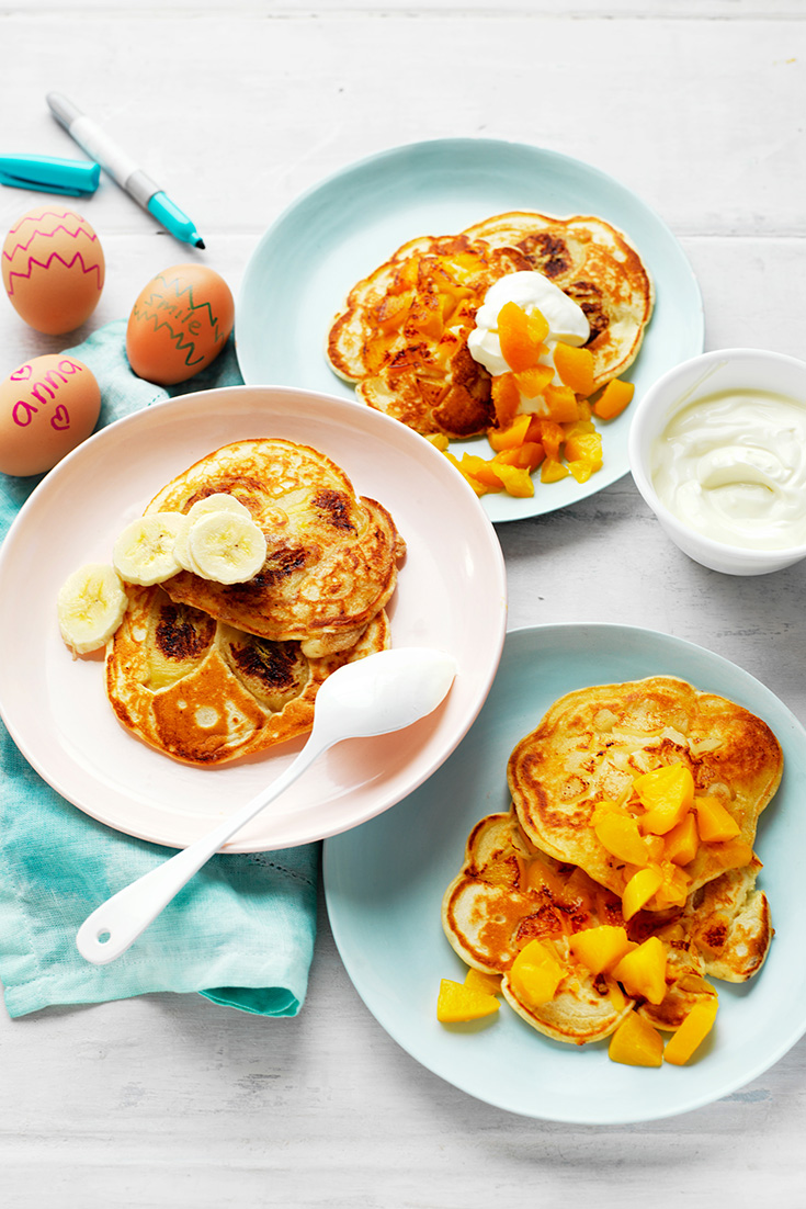 Make easy fruit pancakes for breakfast this World Egg Day October 14