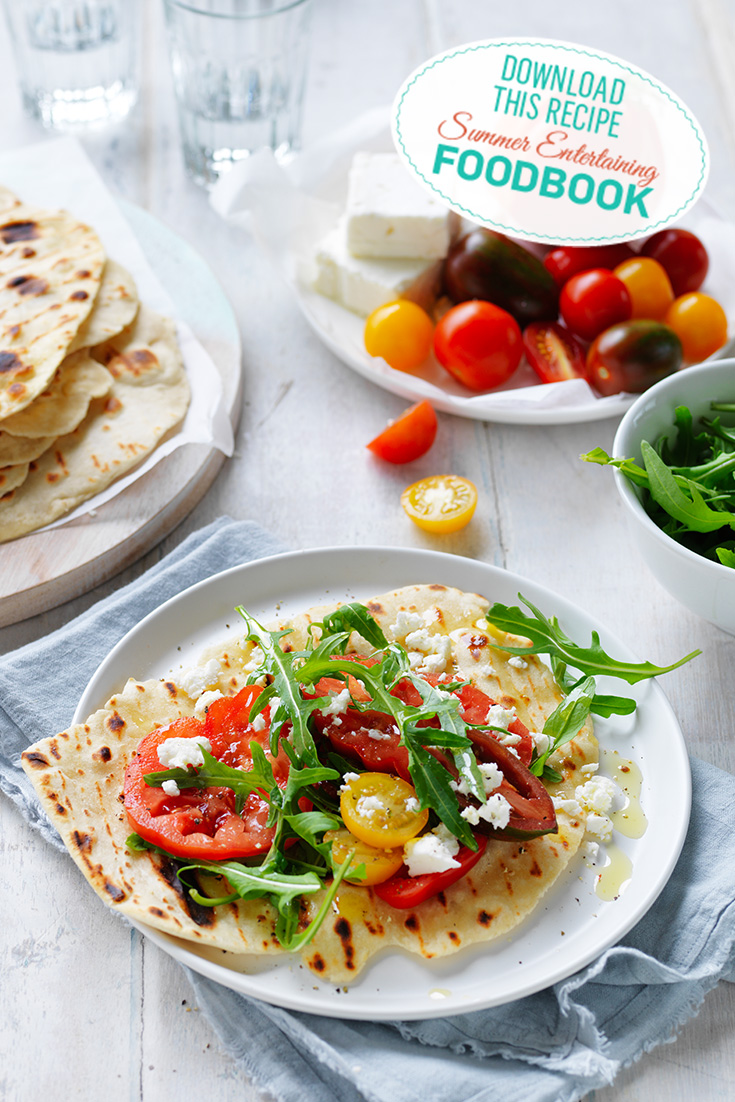 Find these Easy Flatbreads in the 2016 Summer Entertaining Foodbook