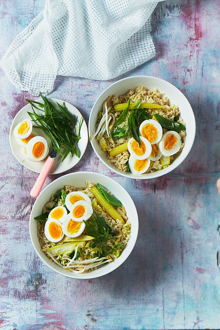 This easy fried rice with boiled eggs recipe is a super simple and quick dinner idea to enjoy on World Egg Day.