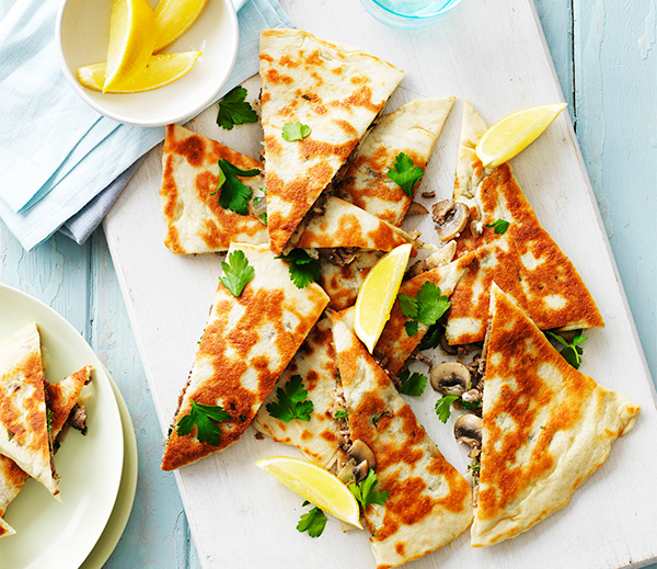 Make your own homemade gozleme with this Mushroom and Lamb version