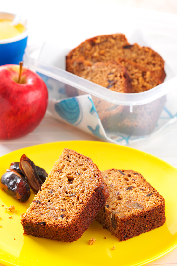 Wholemeal Date and Walnut Loaf is the perfect morning tea idea