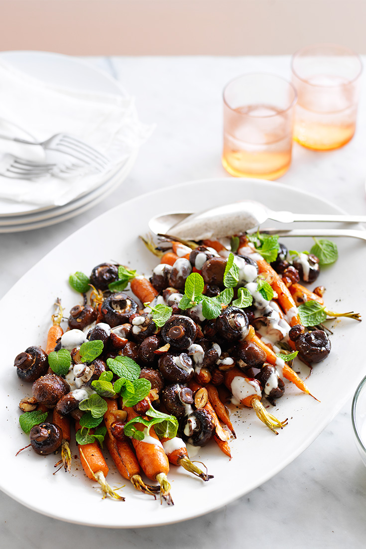 Try this Maple Roasted Carrot Salad as a side dish recipe this entertaining season