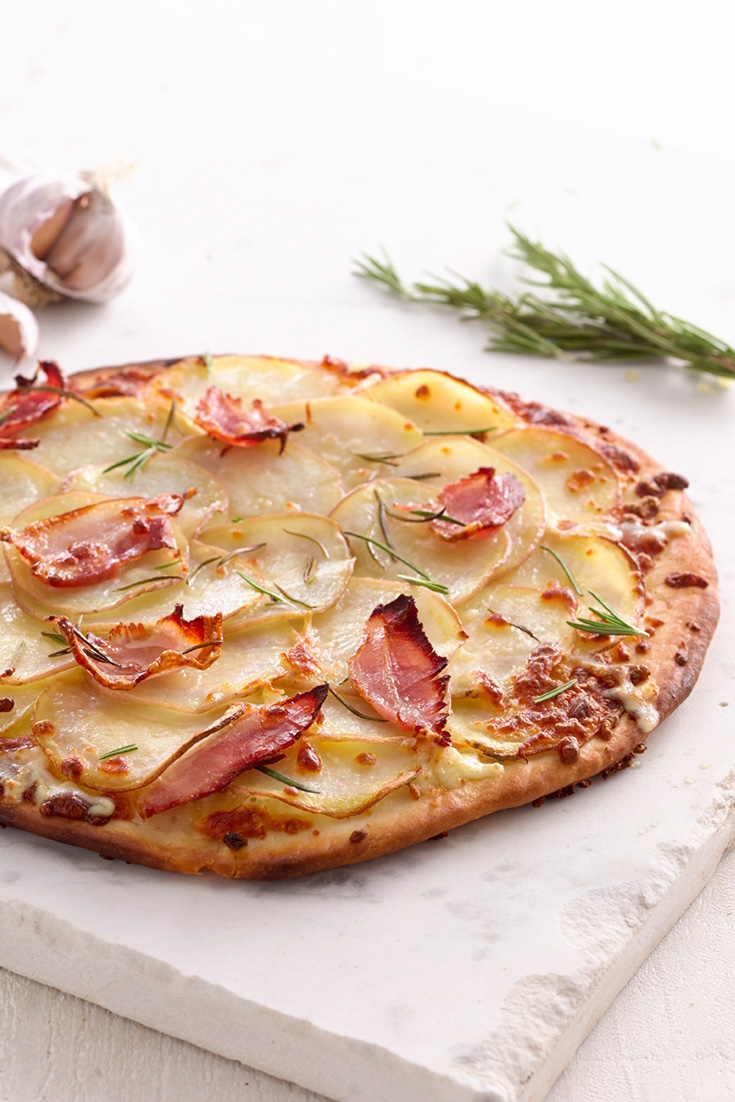 Try your hand at homemade pizza with this Potato, Rosemary and Speck Pizza recipe