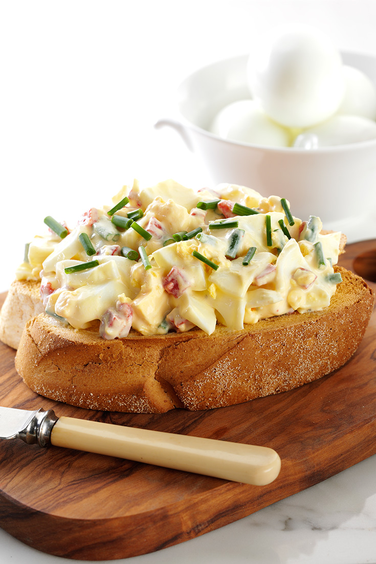 This delicious Russian Egg Salad Recipe is a great way to dress up simple boiled eggs