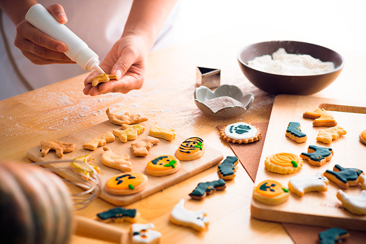 When you don't want to carve a pumpkin, why not try decorating cookies