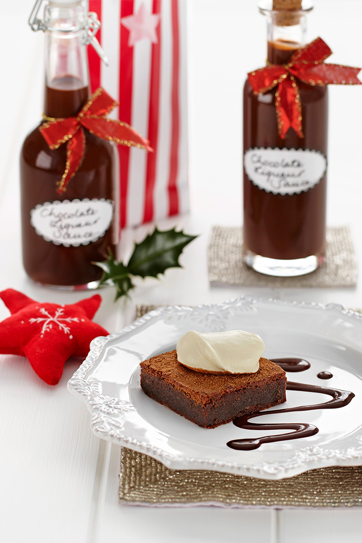 Our list of edible Christmas gift ideas like this Chocolate Liqueur Sauce will have you inspired this festive season