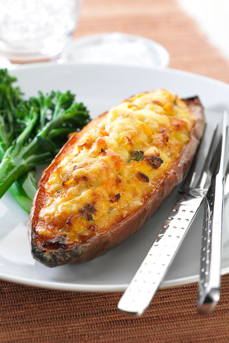 One of our favourite dinner ideas, this easy tuna and Corn Stuffed Sweet Potatoes is perfect for a mid-week dinner