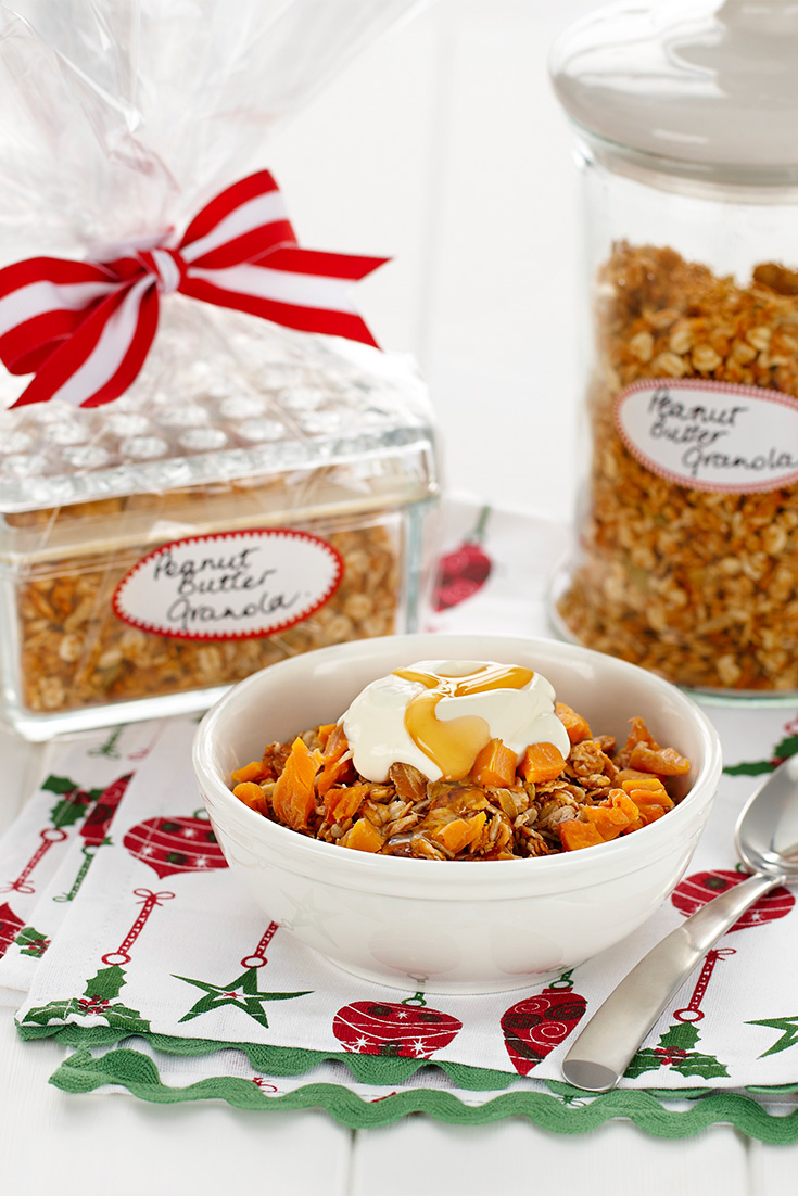 This delicious Christmas-themed granola is a great holiday breakfast idea