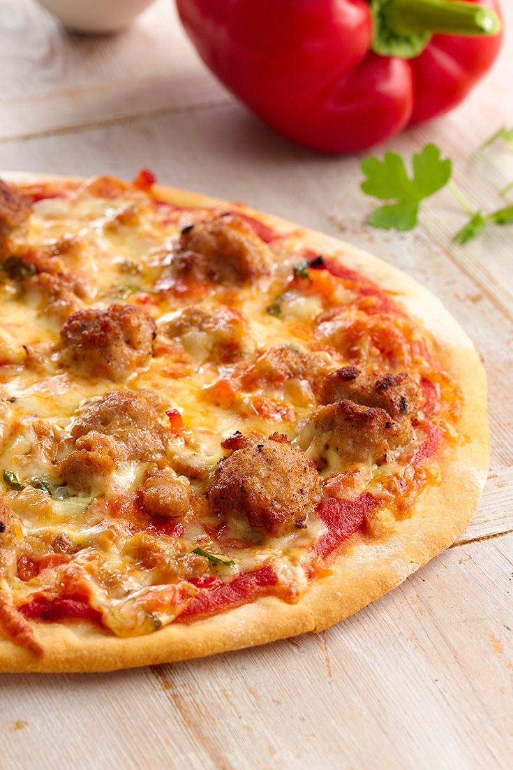 Make this classic Sausage Pizza for a simple dinner idea