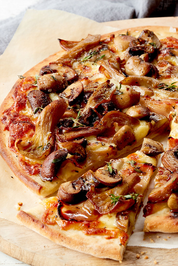 This Mushroom Pizza recipe is a great Friday night dinner